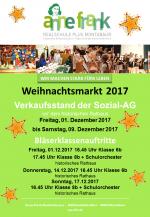 Die Anne-Frank-Realschule auf dem Weihnachtsmarkt 2017