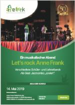 Let's rock Anne Frank - ein musikalischer Abend
